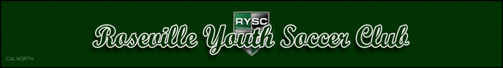 Roseville Youth Soccer Club banner
